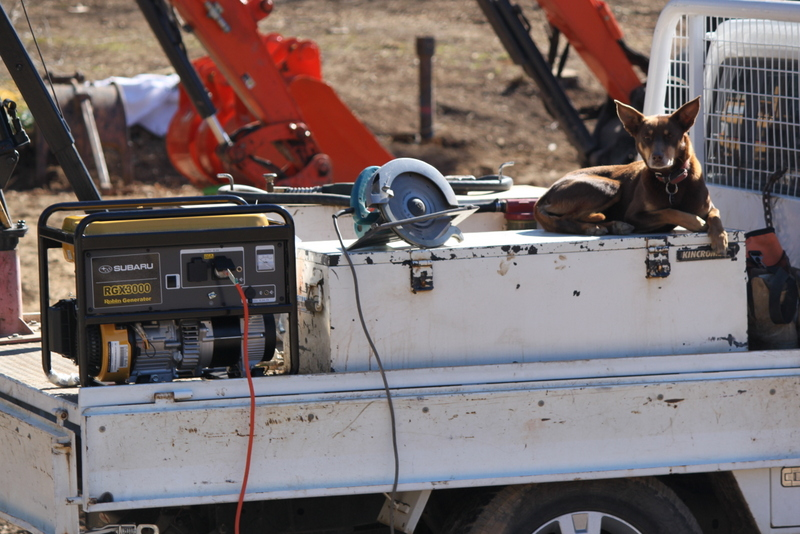 Generator At Use On Job Site