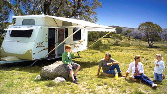 Poptop Caravan on location