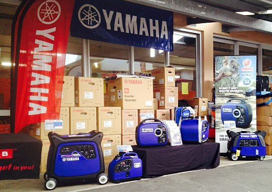 Hire a generator: All Yamaha units come with a 4 year warranty