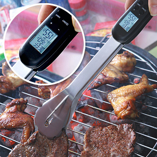 Christmas gift ideas for your dad: Digital-BBQ-Tongs
