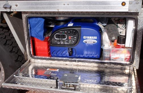 Road trip preparation: A portable generator is a great addition to your road trip equipment, especially when travelling into remote locations
