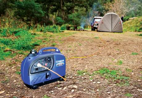 Portable generators can be great for recharging your battery packs when camping