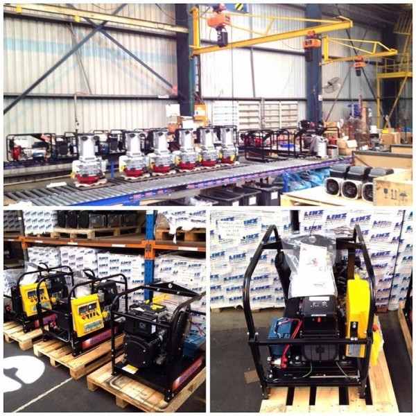 Australian assembled Work Cover Approved Generators on the production line