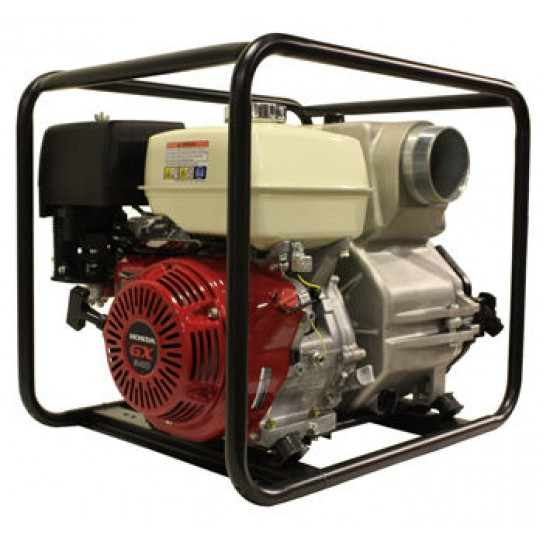 Trash pump for sale: Honda Powered Trash Pump; Perfect for construction/building sites and yards requiring transfer of muddy water containing solids and debris