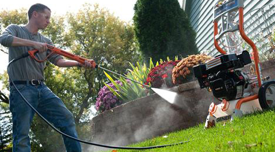 Petrol powered pressure washers can be a good option for larger domestic tasks