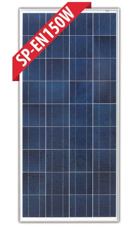 Enerdrive 2 x150W Fixed Solar Panel, Twin Pack