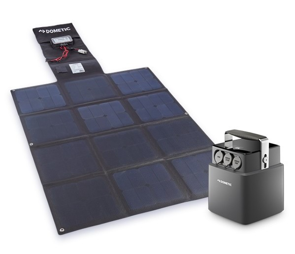 Dometic 40Ah Lithium Battery & 150W Portable Solar Blanket Kit