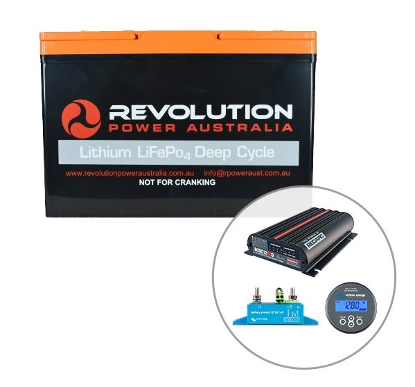 Revolution 100Ah Lithium Battery 4x4 Charging Solution, 50 Amp