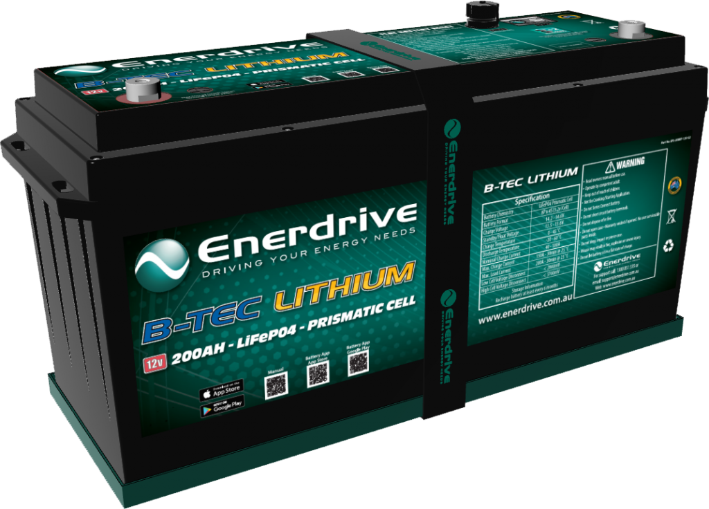 Enerdrive 200Ah Lithium Battery