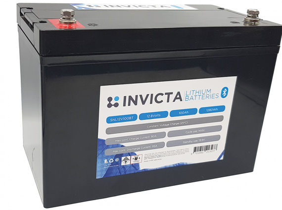 Invicta 12V 200Ah Lithium Battery with Bluetooth