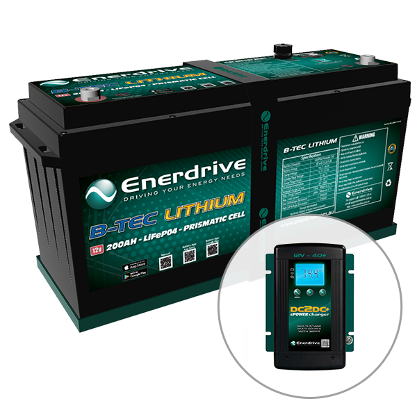 Enerdrive ePOWER B-TEC 200Ah Lithium 40A DC2DC Battery Pack