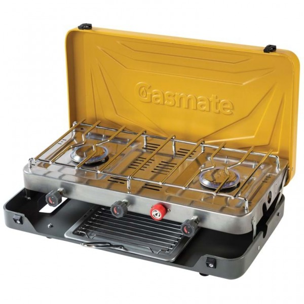 Gasmate 2 Burner Folding Stove with Grill