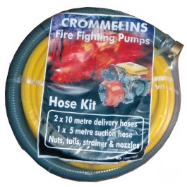 "Crommelins Fire Fighting Hose Kit for 1.5"" Pump, Delivery & Suction Hoses with fittings"