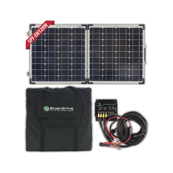 Enerdrive 120w Folding Solar Panel Kit Rv Power Solar Lighting Caravan Rv