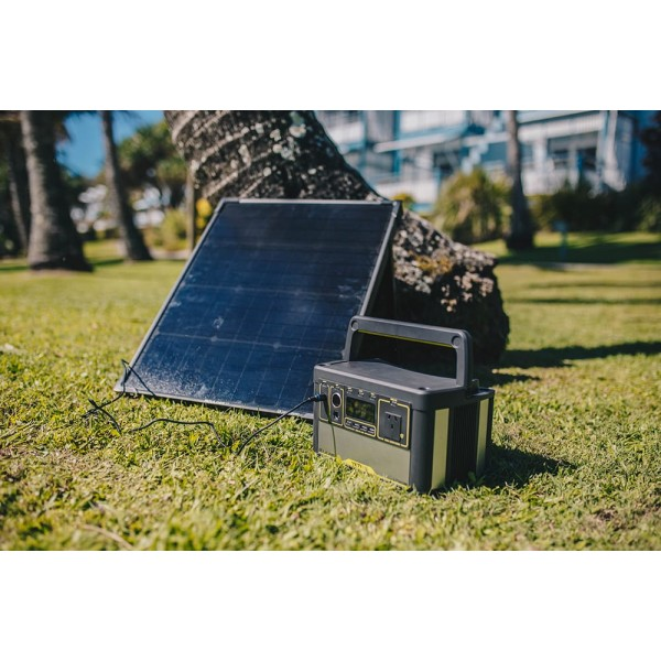 Goal Zero Yeti 500X Lithium Portable Power Station + Boulder 100 Briefcase Pack | Caravan Battery & Electrical | Camping Solar Panels
