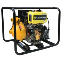 """Cromtech Fire Fighting 1.5"""" Diesel Water Pump with Twin Impeller, 5.3hp"""