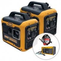 2 x DeWalt DXIG2200, 2200W Inverter Generator with Parallel Kit (Combined 3500W)