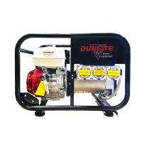 Dunlite Honda 8kVA Petrol Portable Generator Worksite Approved with RCD Outlets