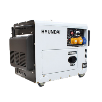 Hyundai DHY6000SERS 6.5kVA AVR Diesel Portable Generator with 2 Wire Remote Start