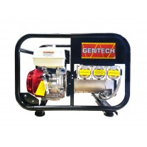 Gentech Honda 8kVA Petrol Portable Generator Worksite Approved with RCD Outlets