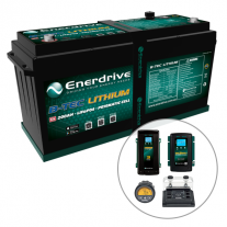 Enerdrive ePOWER B-TEC 200Ah Lithium Battery 40A DC2DC + 60A AC with ePro+ Monitor Charger Pack
