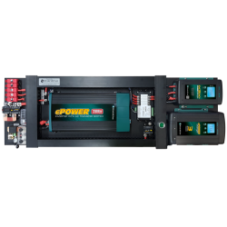 Enerdrive 40A AC and DC DIY Installation Kit, With Simarine Battery Monitor & 2000W RCD & AC Transfer Switch Inverter (K-AGM-Board-F)