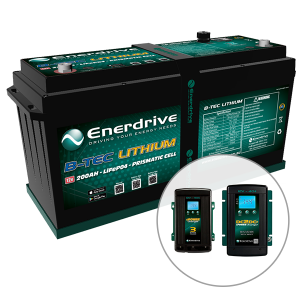 Enerdrive ePOWER B-TEC 200Ah Lithium Battery, 40A DC2DC + 40A AC Charger Pack