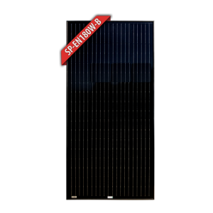 Enerdrive 180W Mono Crystalline Fixed Solar Panel, Black