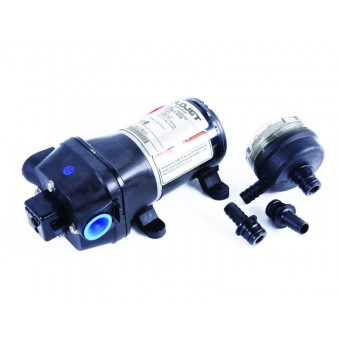 Flojet 12V Water Pump and Filter - Caravan Water Pumps & Plumbing