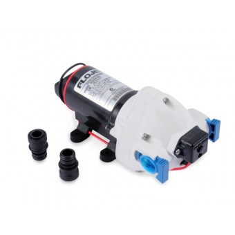 Flojet 12V Triplex Water Pump, C-Tick Quad Fittings - Root Catalog