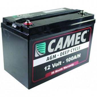 Camec 100AH SLA AGM Battery - Caravan & RV
