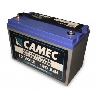 Camec 120AH SLA AGM Battery - Caravan & RV