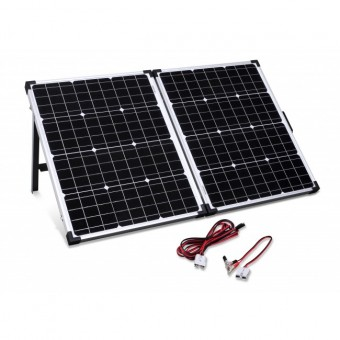 Camec Portable Folding 100 Watt Solar Panel Kit - Root Catalog