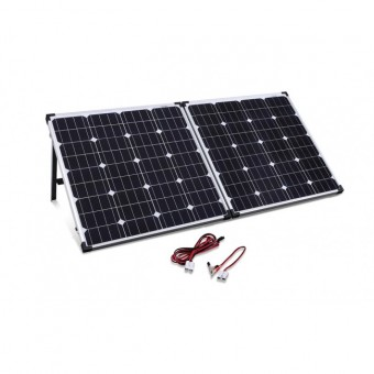 Camec Portable Folding 160 Watt Solar Panel Kit - Caravan & RV