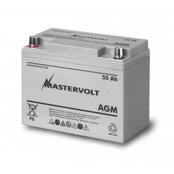 Mastervolt AGM 12V 55Ah Battery - Boating & Marine