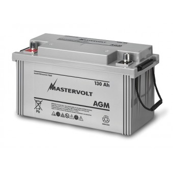 Mastervolt AGM 12V 130Ah Battery - Boating & Marine