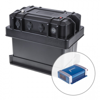 Thunder Heavy Duty Battery Box + 20 AMP DC-DC Charger - Battery Boxes