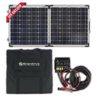 Enerdrive 120W Folding Solar Panel Kit - Root Catalog