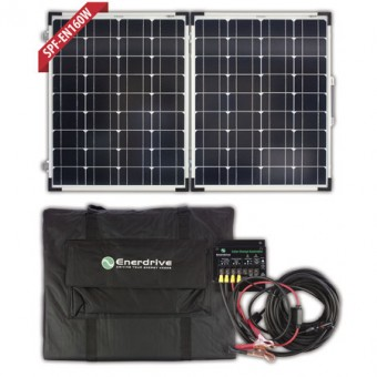 Enerdrive 160W Folding Solar Panel Kit - Root Catalog