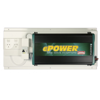 Enerdrive ePOWER 2000W Sine Wave Inverter with RCD+GPO - 12V Inverters