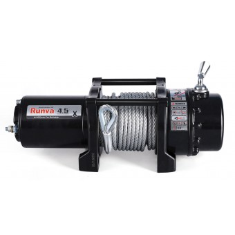 Runva 4.5X Winch with Steel Cable - Caravan Hardware & Accessories