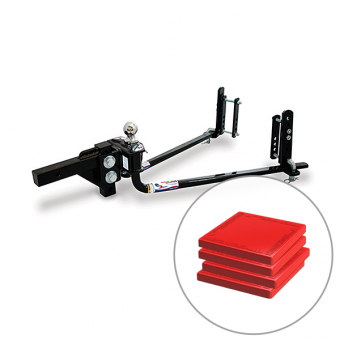 Fastway E2 Round Bar Hitch 6,000lb with TUFF Pads Combo - Weight Distribution Systems