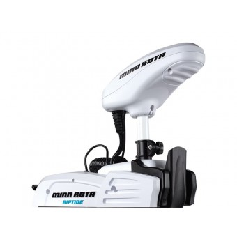 Minn Kota Saltwater Bow Mount Electric Motor - Riptide Saltwater PowerDrive 55 lb Thrust 54 inch incl Foot Pedal - Electric Outboard Motors