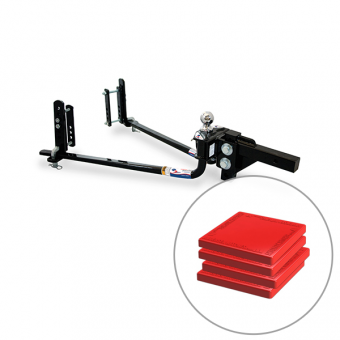 Fastway E2 Round bar Hitch 8,000lb with TUFF Pads Combo - Weight Distribution Systems