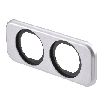 Narva Twin Flush Mount Housing, Silver - 4WD Vehicle Electrical