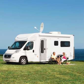 Sphere 12V Automated Satellite System - Caravan TV, Audio & Wifi