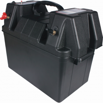 OEX Plastic Battery Box with Power Outlets - 340 x 200 x 225 mm - Battery Boxes
