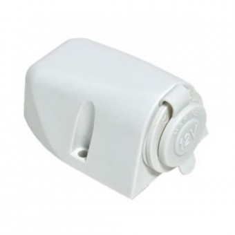 Baintech 12V White Ciga Socket Surface Mount - Root Catalog
