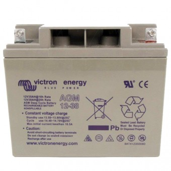 Victron 12V/38Ah AGM Deep Cycle Battery - Off Grid Batteries