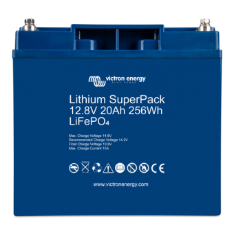 Victron Lithium SuperPack 12.8V/20Ah with M5 threaded insert terminals - Off Grid Batteries